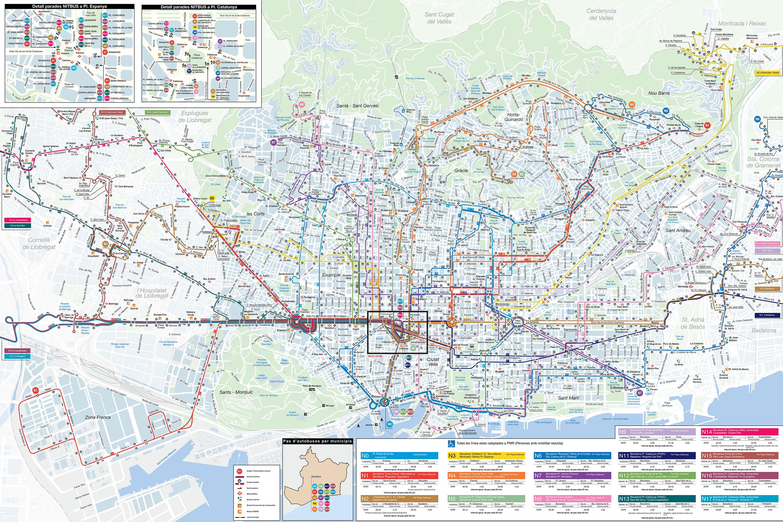 Google Zurich Plan Et Carte De Bus Et Nitbus De Barcelone Stations Et
