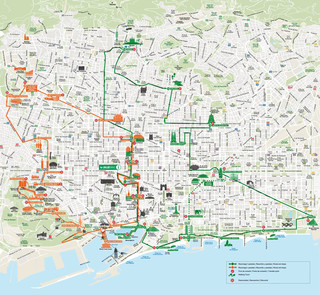 Carte de bus touristique et hop on hop off bus tour de Barcelona City Tour